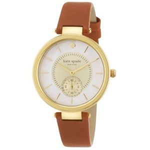 Kate Spade Perry Cognac Brown Leather Strap Watch